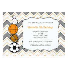 football themed birthday party invitations u0026 announcements zazzle