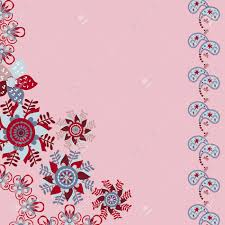 what compliments pink floral invitation or greeting card on cute pink background template