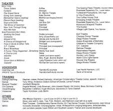 Painters Resume Sample by Musical Theatre Resume Template