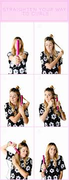 how to make flicks with a hair straightener best 25 hair straightener curls ideas on pinterest straightener
