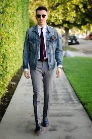 how to wear a dark purple vertical striped tie with grey dress