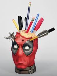 cool pen holders deadpool pencil holder desk accessory gentle giant pen holders