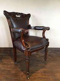 Regency Office Furniture by Regency Office Chair Fine Brown Leather W Casters 439 00
