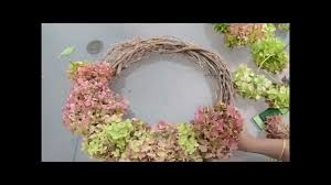 Dried Hydrangeas Easy Fall Wreath With Dried Hydrangeas Whats Ur Home Story Youtube