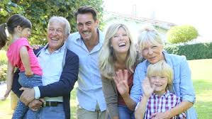 portrait of happy family at grandparents u0027s house stock footage