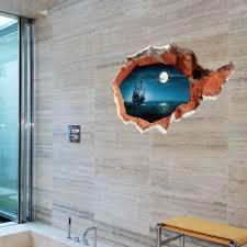 3d broken wall art mural decal senery wall stickers home art