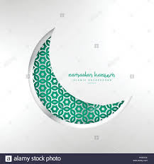 islamic ramadan festival creative moon design stock vector