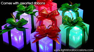 pre lit christmas gift boxes lighted gift box