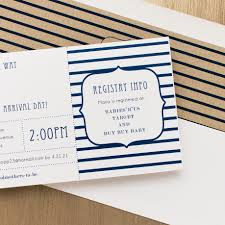 ahoy it u0027s a boy baby shower invites with envelope liners beacon lane