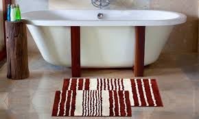 Bathroom Floor Rugs Bathroom Ideas White Stripes Rug Walmart Bathroom Sets