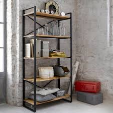 Steel Frame Bookcase Iron And Wood Bookcase Astonishing Metal Decorating Ideas Cepagolf