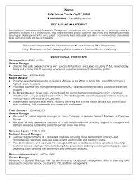 restaurant resume template resume fast food restaurant manager resume template service