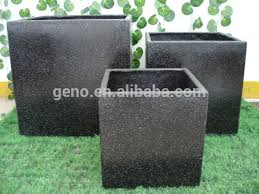 Concrete Rectangular Planter by Square Concrete Planter 14in X 14in Espresso Concrete Planter
