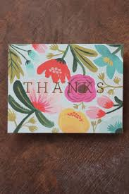 gold floral thank you greeting cards boxed set of 8 paper
