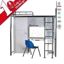 Steel Bunk Bed With Desk And Lockerbunk Beds With Study Table And - Study bunk bed