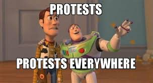 Meme Buzz - protests protests everywhere buzz and woody toy story meme