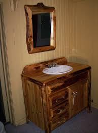 rustic vanity light bar bathroom lights shades log cabin fixtures