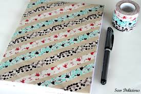 Washi Tape Designs by Washi Covered Notebook Tutorial Sew Delicious