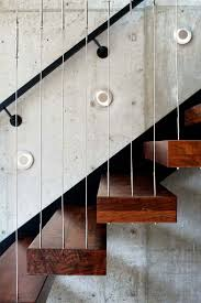 Railing Banister Architecture Floating Wooden Stair With String Railing Banister
