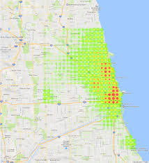 Green Line Chicago Map by The Restaurant Landscape Of Chicago Bootler Food Delivery