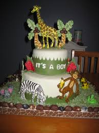 jungle baby shower cakes jungle theme baby shower cake cakecentral