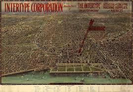 Chicago City Map by Chicago Central Business District 1916