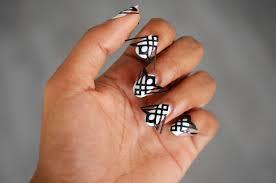 black gold nail art designs simple nail design ideas 1555
