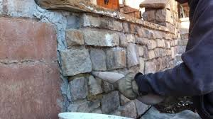 how to use a grout bag grouting veneer stone part 1 youtube
