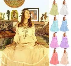 romantic mexican peasant gypsy boho wedding dress bridesmaid