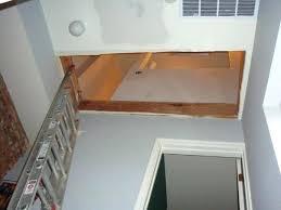 repair attic ladder extension ladder as temporary attic stairs