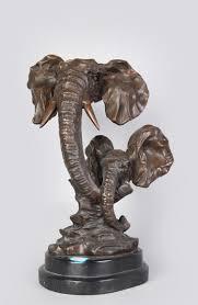 Sculptures Home Decor Home Decor Statues Sculptures Bronze Craft Elephants Statues