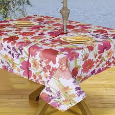 Tablecloth For Umbrella Patio Table Decor Tips Beautiful Leaves Outdoor Vint Yl Tablecloths With