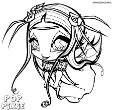 poppixie coloring pages coloring pages to download and print