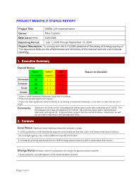 monthly report template ppt project status report template 2dfahbab png 1275 1650