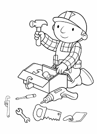 Carpenter Art Garden Carpenter Tool Coloring Pages Coloring Page