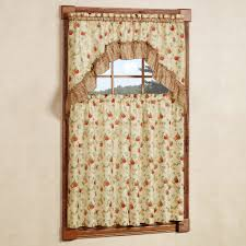 country style kitchen window curtain set sonoma fruit tier window
