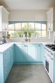 light blue kitchen cabinets uk in frame painted kitchen in light blue and light grey