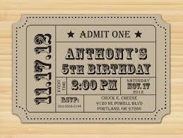 carnival birthday ticket birthday party circus 1st