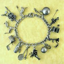 charm bracelet charms sterling silver images 594 best vintage charms images charm bracelets jpg