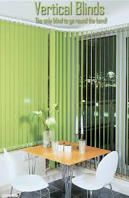 vertical blinds can be ordered with a curved headrail so they can
