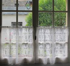 pair vintage french lace curtains like the idea of half curtains