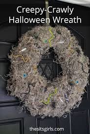 Easy Halloween Wreath by Halloween Wreath Creepy Crawly Wreath Halloween Door Decor