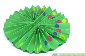 how to make a fan out of paper how to make a paper peacock fan 12 steps with pictures