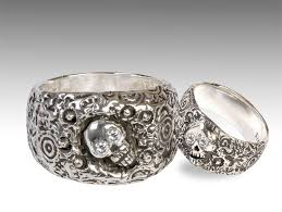 skull wedding rings silver skull wedding ring set with diamonds