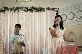wedding backdrop fairy lights real weddings matthew kate chijmes we laugh