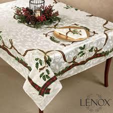 lenox holiday nouveau holly table linens