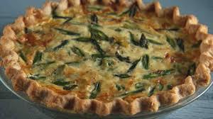 asparagus leek and gruyere quiche