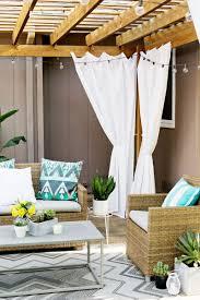 Make Your Own Outdoor Rug Make Your Own Outdoor Pergola Curtains Pergola Curtains