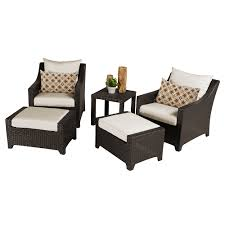 Patio Chairs With Ottomans by Exterior Mesmerizing Dark Wicker Patio Chair And Ottoman Set By