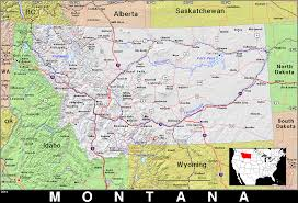 Montana Map by Mt Montana Public Domain Maps By Pat The Free Open Source
